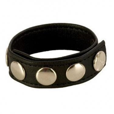Adjustable 5 snap leather strap